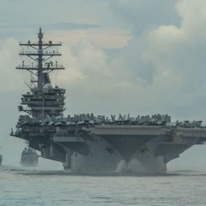 韓国・反応 米・日 26日から近海で連合訓練...中国牽制のための「クアッド」基盤