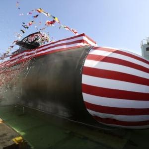 韓国・反応 日本海上自衛隊3千t級新型潜水艦進水...22隻体制