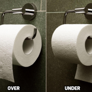 韓国・反応 前vs後ろ...あなたのトイレのトイレットペーパー方向は?