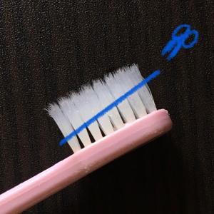 切るだけ!歯ブラシ再利用法