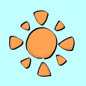 太陽のイラスト【フリー素材】【天気】【晴れ】【快晴】【ぽかぽか】