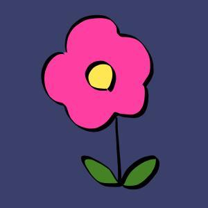 花【ピンク色】のイラスト【フリー素材】【植物】【桃色】【ハナ】【自然】【春】【商用利用可】