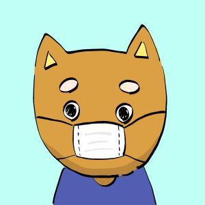 マスクを正しくつけた犬のイラスト【フリー素材】【商用利用可】【マスク】【予防】【正しい】