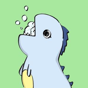 うがいをしている恐竜のイラスト【フリー素材】【商用利用可】【うがい】【恐竜】【予防】【ウイルス対策】