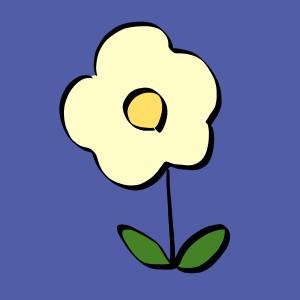 花【パステルイエロー】のイラスト【フリー素材】【商用利用可】【はな】【パステル】【植物】【sns,資料、ブログなどに】