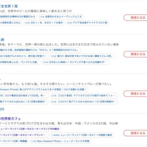 ブログ村〜世界一周ブログ〜ランキング記念