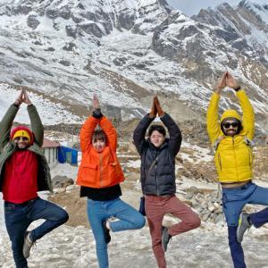 ネパール・一週間冒険旅〜その13〜ポカラ ヘリでヒマラヤ氷山の絶景を!後編