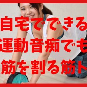 自宅でできる運動音痴が100日以内に腹筋割った筋トレ方法