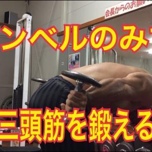 【Youtube紹介】筋トレ 三頭筋のトレーニング ダンベルだけで その②Triceps work
