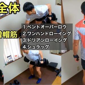 【Youtube紹介】【ダンベル】背中全体を鍛える筋トレメニュー