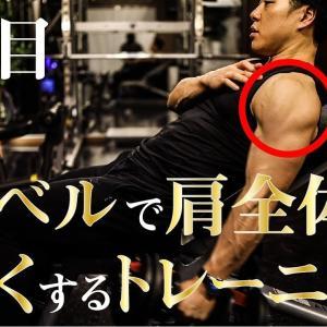 【Youtube紹介】ダンベルのみで肩トレーニング。肩全体をデカくするやり方やコツをご紹介。