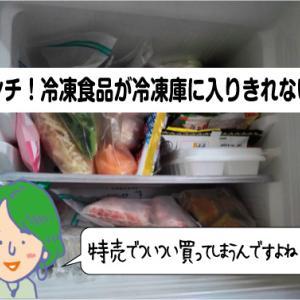冷凍食品が冷凍庫に入らない!家でこんな対策をしてみた結果