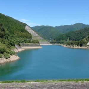 日本 上大須ダムの現在の様子
