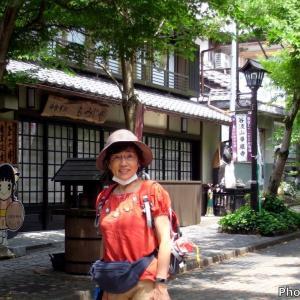 日本 背景は華厳寺参道の新緑