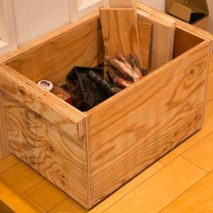 DIY道具の収納箱作製 組み立て~完成