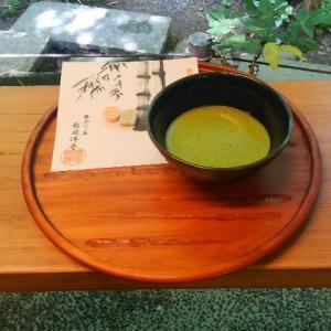 報国寺竹の庭茶席はソーシャルディスタンス