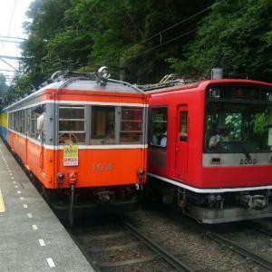 箱根登山電車は80パーミルの急勾配とあじさいが見どころで僕の心もスイッチバック