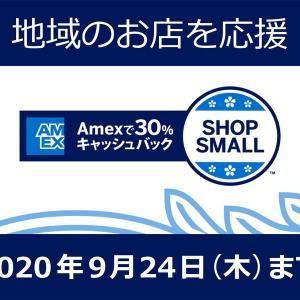 SPGアメックスに30%キャッシュバックオファー – SHOP SMALLキャンペーン