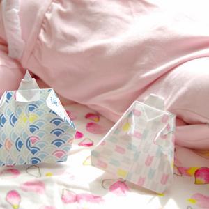 折り紙で作るおひなさま