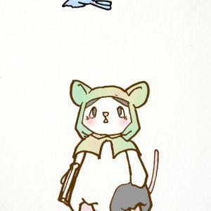 パンダとパンダマウス頭巾その3