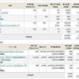 2019/1/3 岡三オンラインとマネックスの保有資産