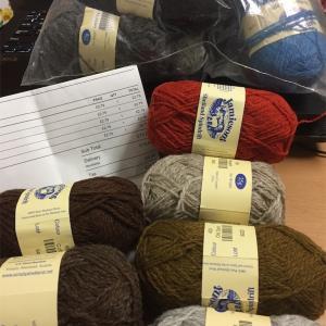 シェットランドから毛糸が届きました