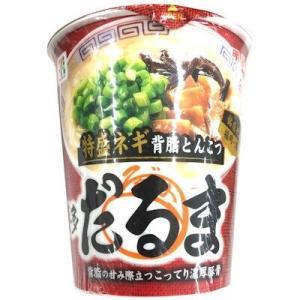 セブンイレブンカップ麺「博多だるま特盛ネギ背脂とんこつ」
