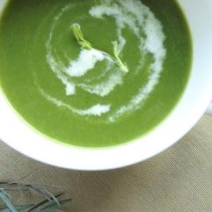 小松菜と豆苗のスープ