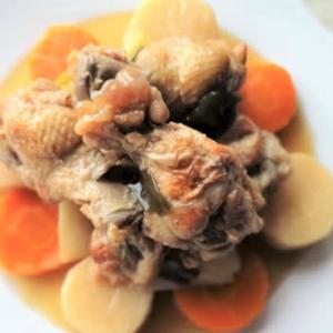 鶏手羽、長芋、人参の甘酢煮