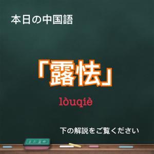 「露怯」 使える中国語フレーズ