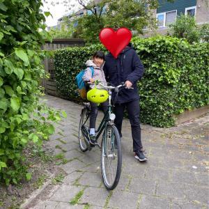 オランダの小学校登校2日目☺