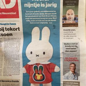 6月21日はNijntje Pluis(ミッフィー)の65歳の誕生日☺