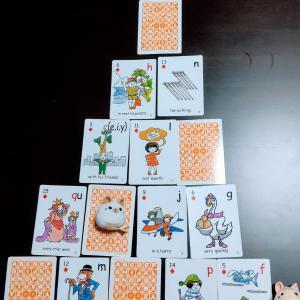 センテンスカードをスラスラ読める1年生☆ 南相馬市の絵本とねこの英語教室