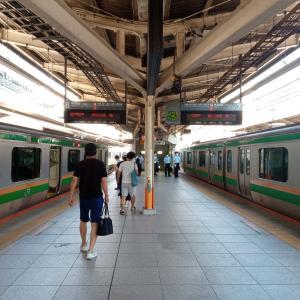 横須賀線の人身事故だが東海道線が割りを食う。