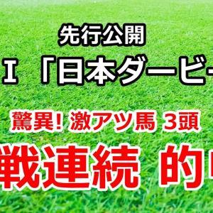 日本ダービー2020 先行公開【驚異! 激アツ馬3頭 9戦連続的中】