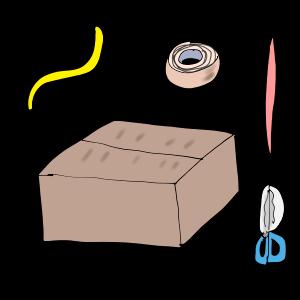 自作びっくり箱を作ってみた(作り方の説明です)〜子どもの反応待ち〜