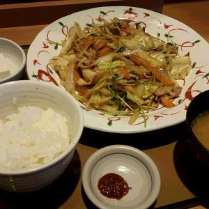 やよい軒:三ヶ森:野菜炒め定食