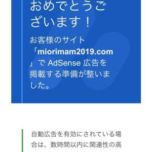 Google AdSense追加申請に合格(^-^)