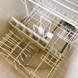 食洗機に水切りネット