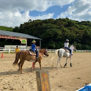 ビーチ乗馬体験してきました。