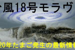 台風18号2020年モラヴェたまご発生と進路予想の最新情報!
