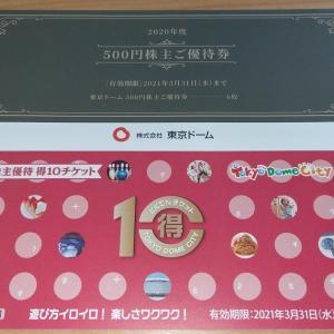 【1月優待】東京ドーム【9681】