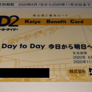 【2月優待到着】ケーヨー【8168】