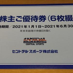【9月優待到着】セントラルスポーツ【4801】