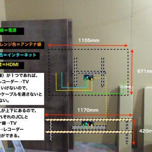 新居におけるテレビの設置 〜壁掛けテレビとレコーダー〜
