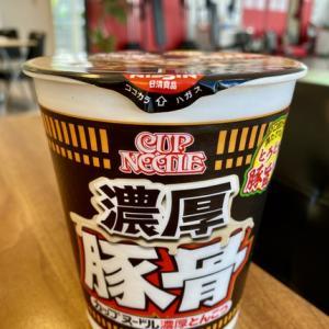 1口目から満たされる!とろとろ豚旨スープ 日清食品 カップヌードル 濃厚とんこつBIG !
