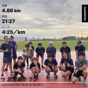 2021年 6月8日(火)  仕事終えて、チームガッチャのインターバルトレーニングに参加しました!