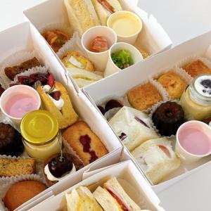ホーチミン一区「Trung – cafe & dessert(チュン カフェ&デザート):ランチからスイーツまで楽しめるAfternoon Tea Boxをデリバリーで満喫♪