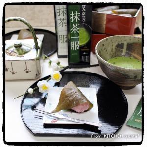 レンチンde簡単♬道明寺粉で作る‼︎関西風さくら餅♡