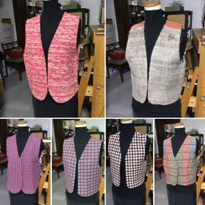 手織りの布のベスト ラインアップ